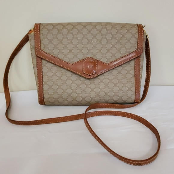 Celine Handbags - Vintage Celine Paris Crossbody Bag